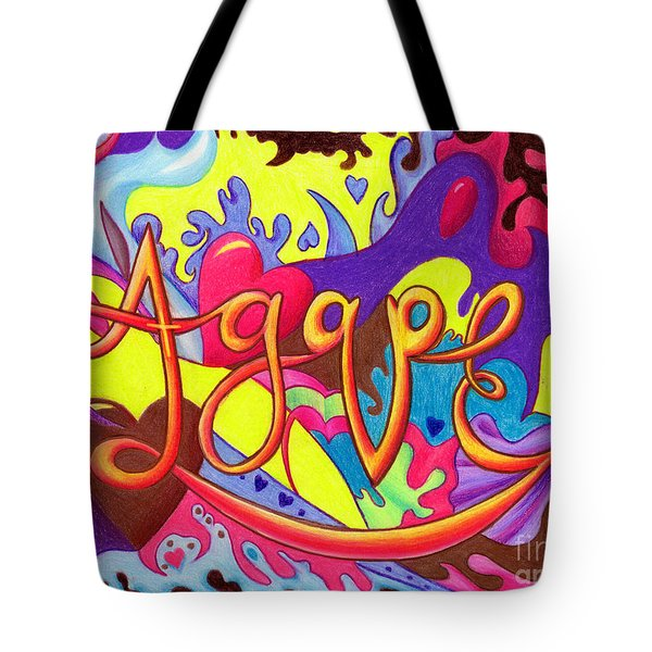 AGAPE Tote Bag by Nancy Cupp