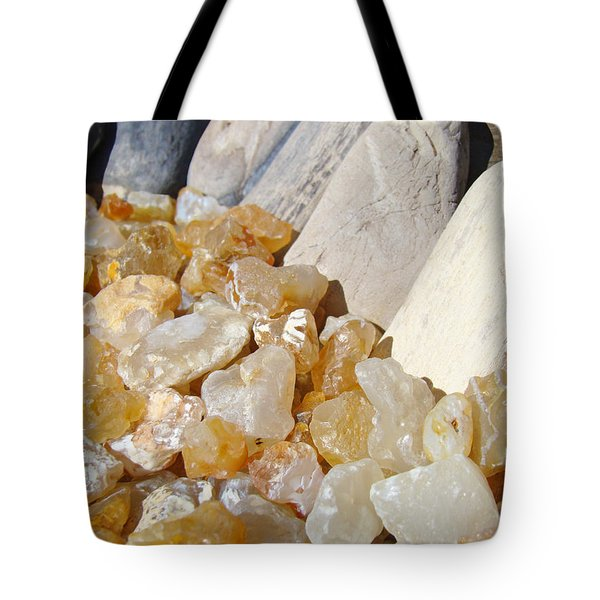 Agate Rocks Beach Art Prints Agates Tote Bag by Baslee Troutman