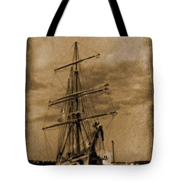 Age of Sail Poster Tote Bag by John Malone Halifax photographer