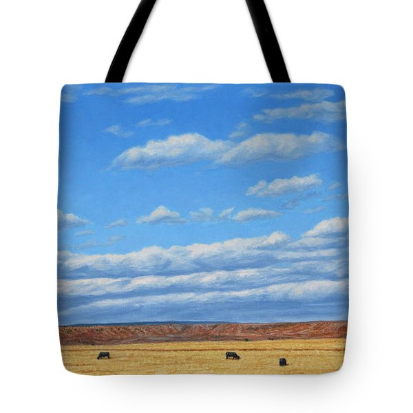 Grazing Tote Bag by James W Johnson