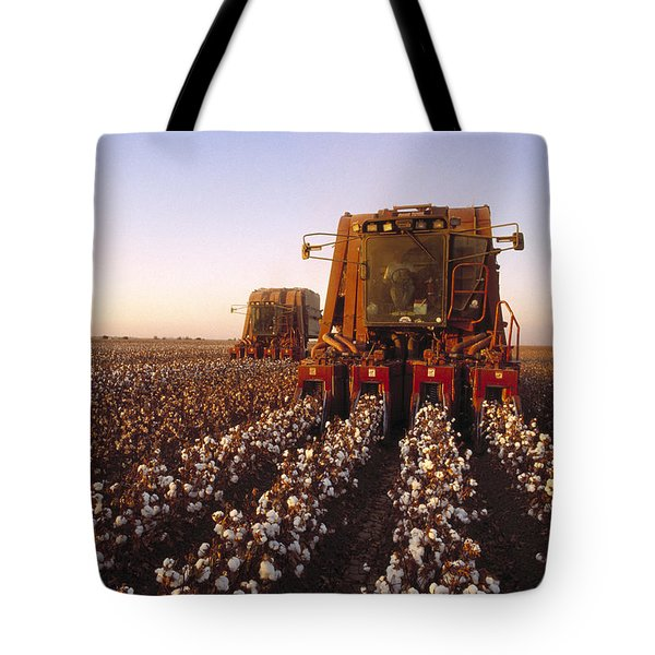 Agriculture - Cotton Harvesting  San Tote Bag by Ed Young