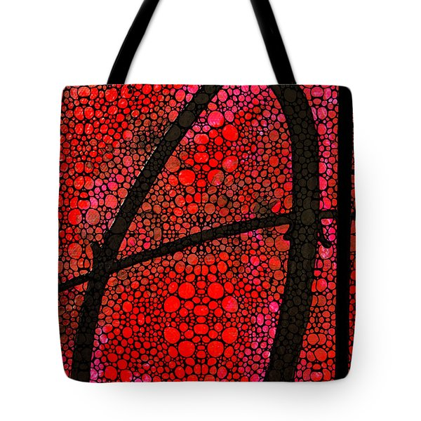 Ah - Red Stone Rock'd Art By Sharon Cummings Tote Bag by Sharon Cummings