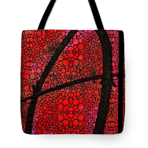 AH - Red Stone Rock'd Art by Sharon Cummings Tote Bag by Sharon Cummings