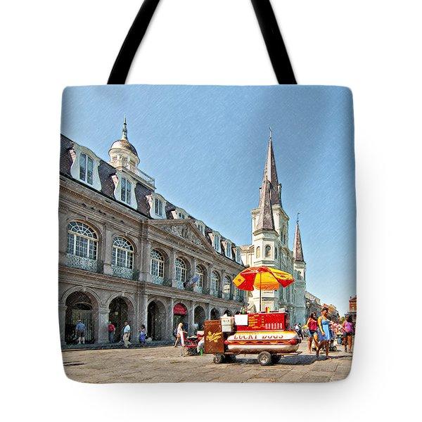 Ahh...New Orleans sketch Tote Bag by Steve Harrington