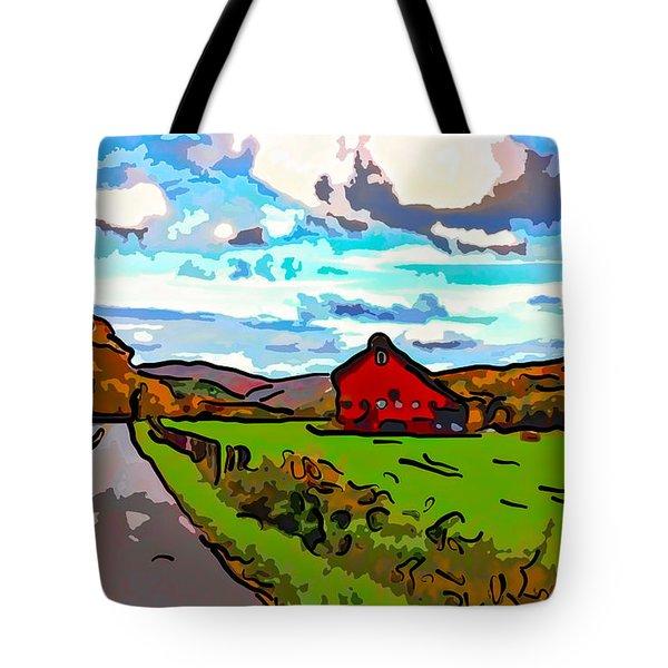 Ah...West Virginia line art Tote Bag by Steve Harrington