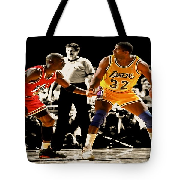 Air Jordan On Magic Tote Bag by Brian Reaves