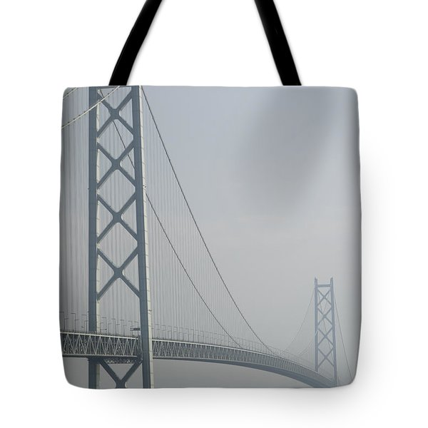 Akashi Kaikyo Suspension Bridge Of Japan Tote Bag by Daniel Hagerman