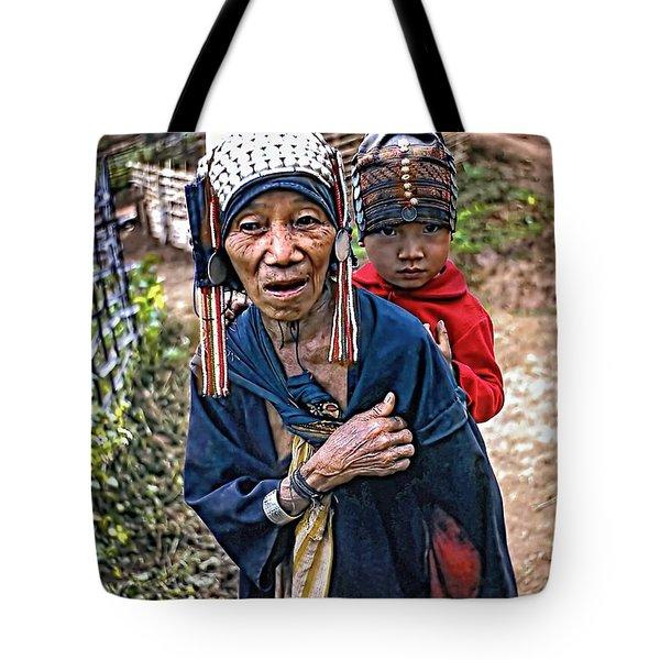 Akha Tribe II Tote Bag by Steve Harrington
