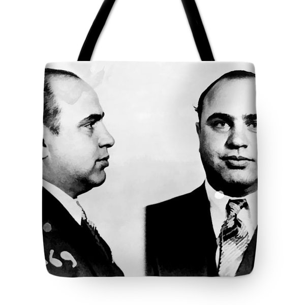 Al Capone Mug Shot Tote Bag by Unknown