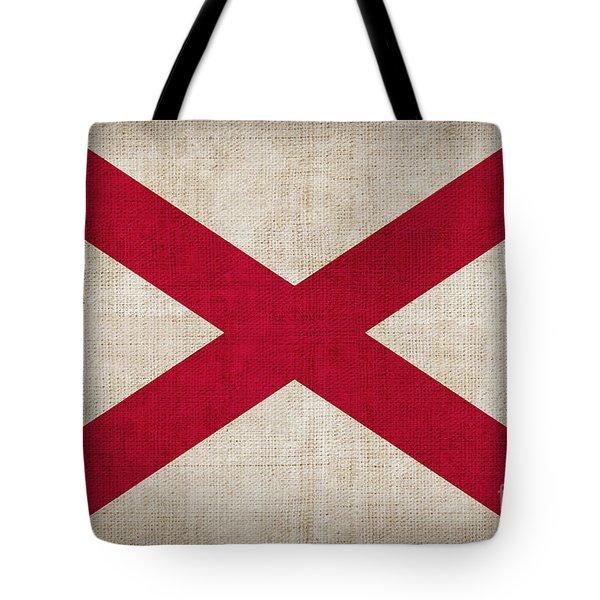 Alabama State Flag Tote Bag by Pixel Chimp