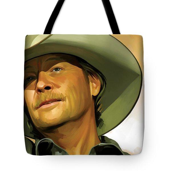 Alan Jackson Artwork Tote Bag by Sheraz A
