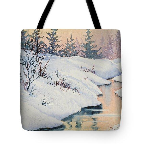 Alaska Gold Tote Bag by Teresa Ascone