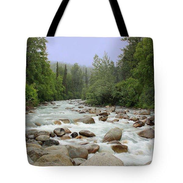 Alaska - Little Susitna River Tote Bag by Kim Hojnacki