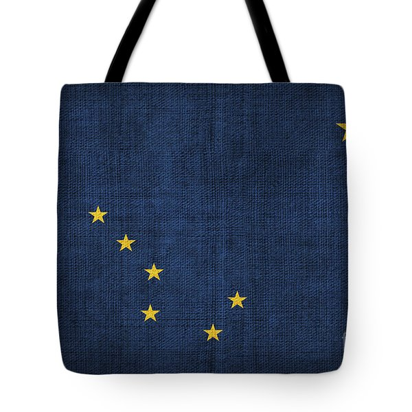 Alaska state flag Tote Bag by Pixel Chimp
