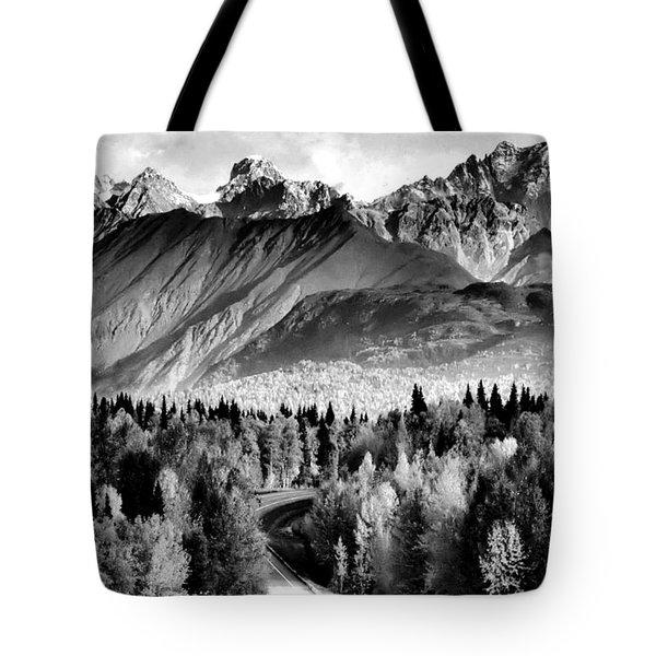 Alaskan Mountains Tote Bag by Katie Wing Vigil