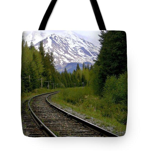 Alaskan Tracks Tote Bag by Art Block Collections