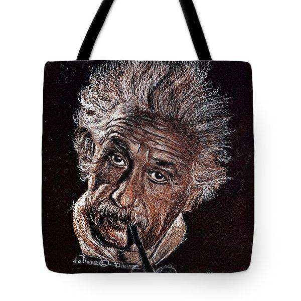 Albert Einstein Portrait Tote Bag by Daliana Pacuraru
