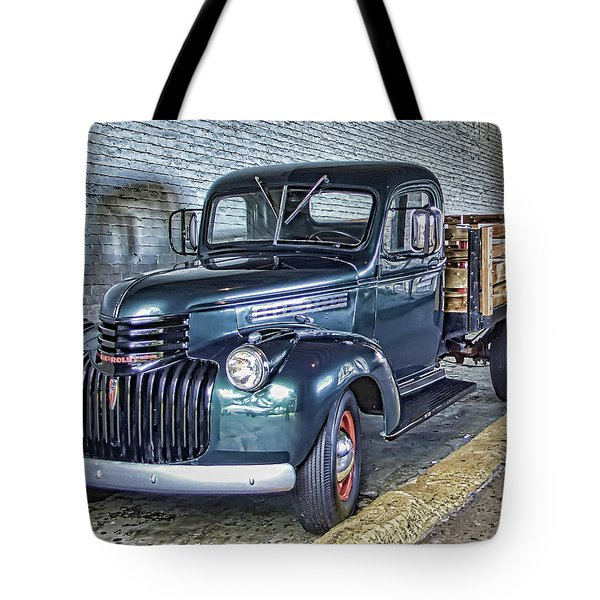 ALCATRAZ 1940 CHEVY UTILITY TRUCK Tote Bag by Daniel Hagerman