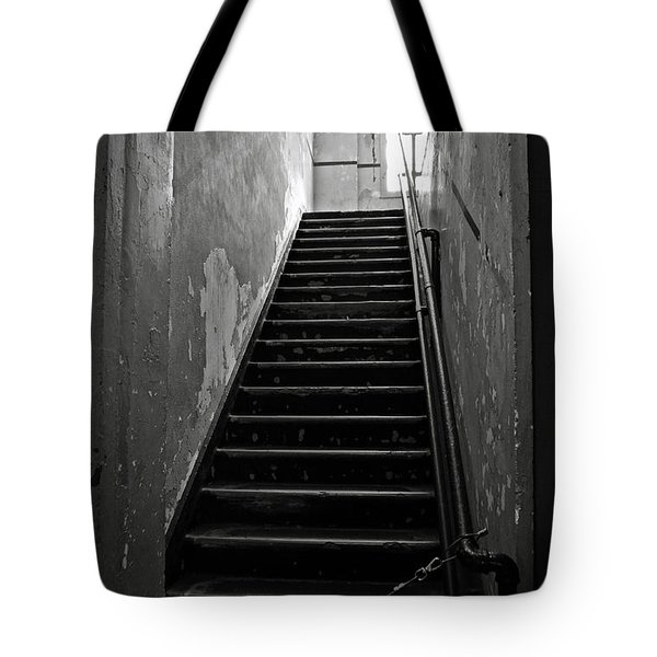 Alcatraz Hospital Stairs Tote Bag by RicardMN Photography