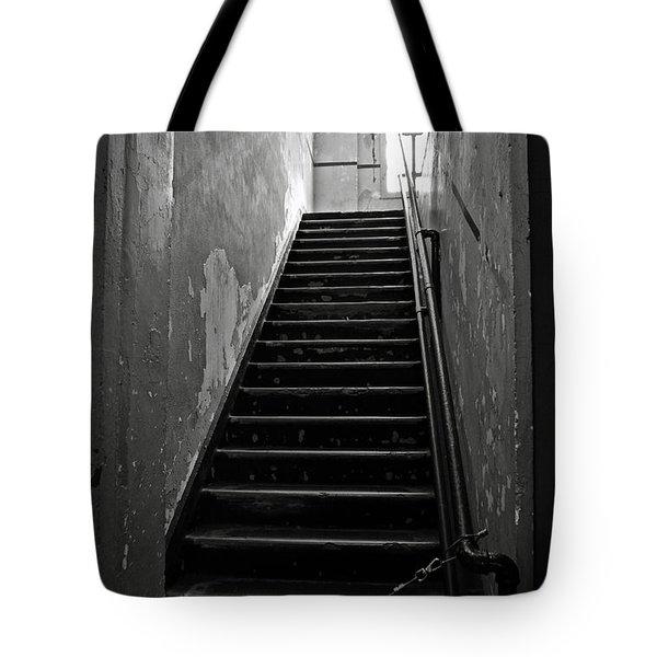 Alcatraz Hospital Stairs Tote Bag by RicardMN Photography