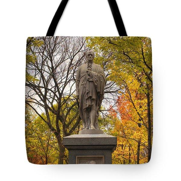 Alexander Hamilton Statue Tote Bag by Joann Vitali