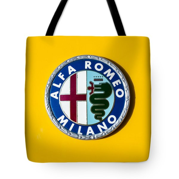 Alfa Romeo Emblem Tote Bag by Jill Reger