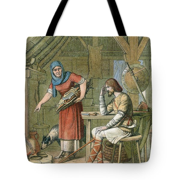 Alfred The Great, Legend Of The Cakes Tote Bag by Photo Researchers