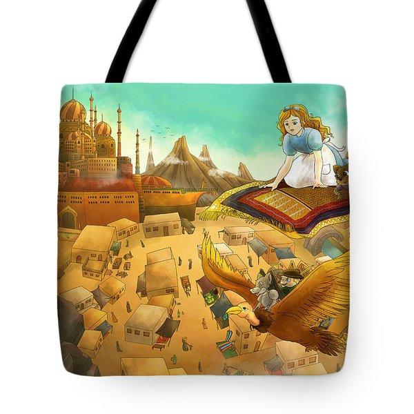 Ali Baba Cover Art Tote Bag by Reynold Jay