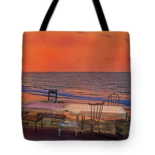 Alice's Topsail Island Tea Tote Bag by Betsy A  Cutler