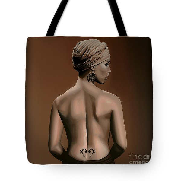 Alicia Keys  Tote Bag by Paul Meijering