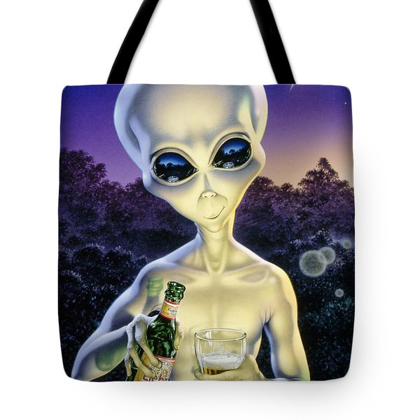Alien Brew Tote Bag by Steve Read