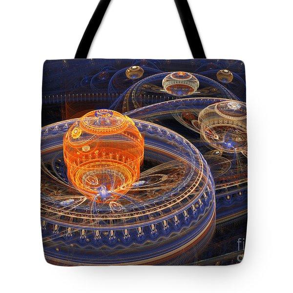 Alien Landscape Tote Bag by Martin Capek