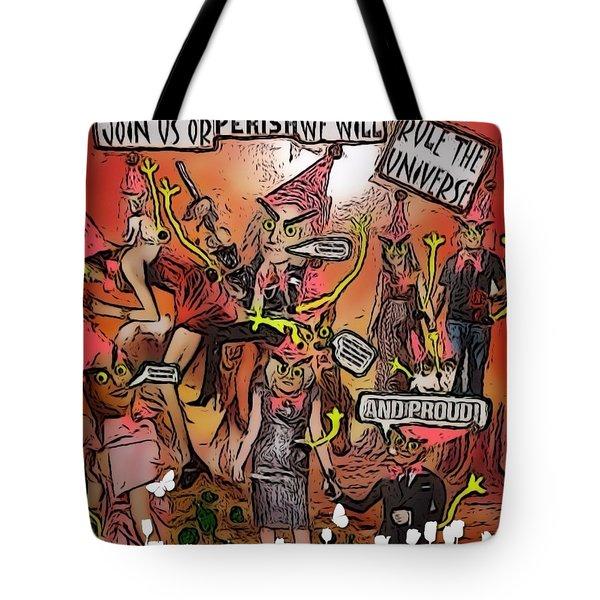 Alien Nation Tote Bag by Lisa Piper Menkin Stegeman