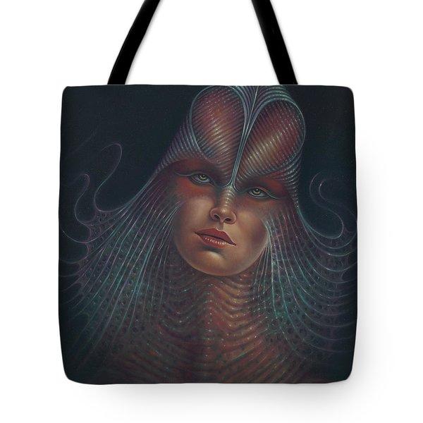 Alien Portrait Il Tote Bag by Ricardo Chavez-Mendez