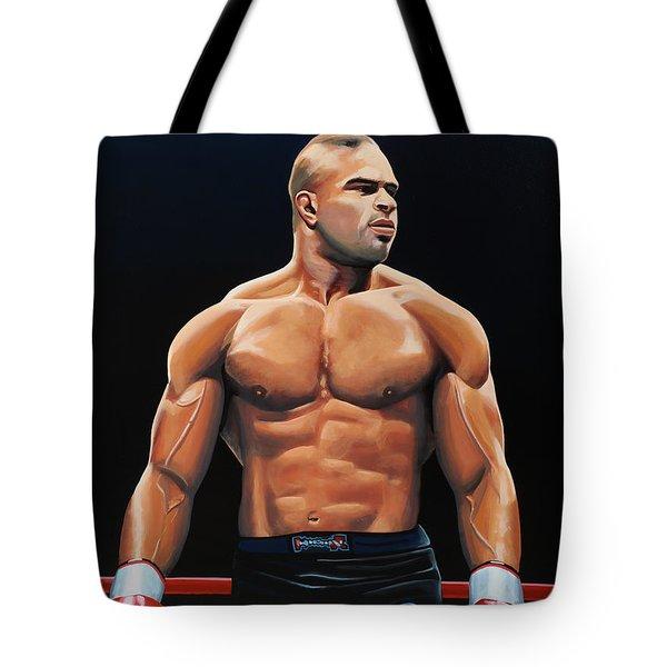 Alistair Overeem Tote Bag by Paul Meijering