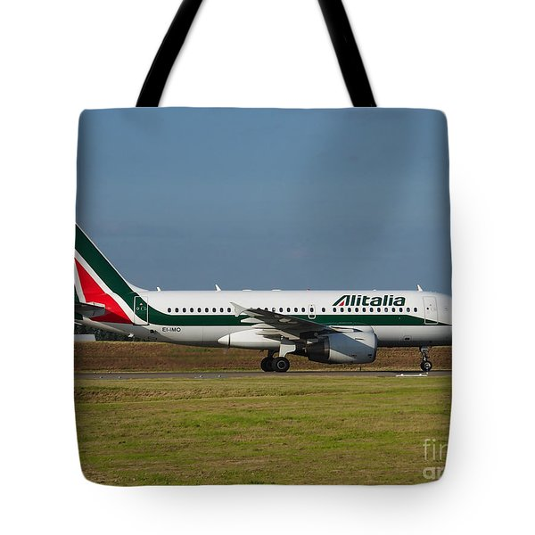 Alitalia Airbus A319 Tote Bag by Paul Fearn