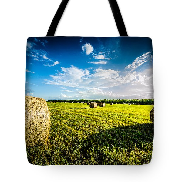 All American Hay Bales Tote Bag by David Morefield