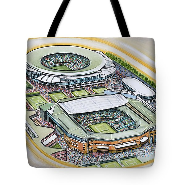 All England Lawn Tennis Club Tote Bag by D J Rogers