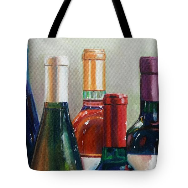 All Lined Up Tote Bag by Donna Tuten
