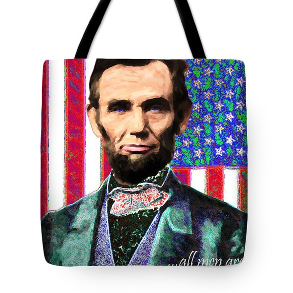 All Men Are Created Equal 20130115 Tote Bag by Wingsdomain Art and Photography