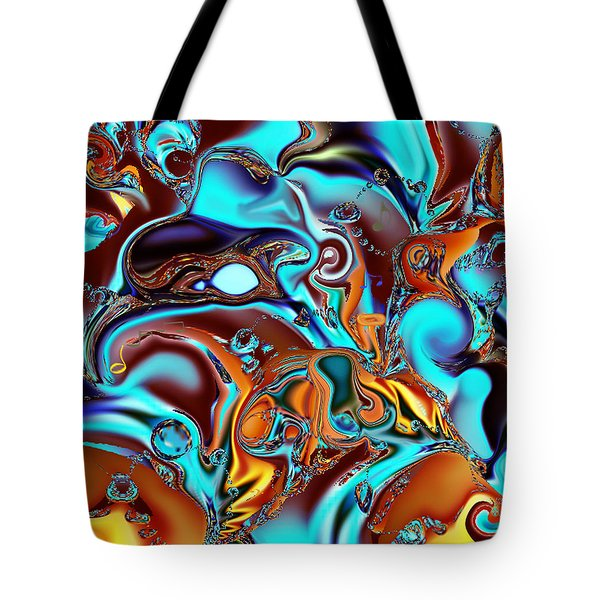 All That Jazz Abstract Tote Bag by Faye Giblin
