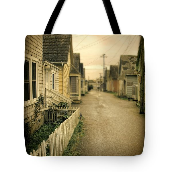 Alley And Abandoned Houses Tote Bag by Jill Battaglia