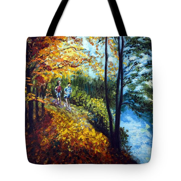Alley By The Lake 1 Tote Bag by Harsh Malik