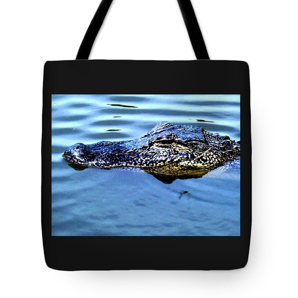 Alligator With Spider Tote Bag by Robin Lewis