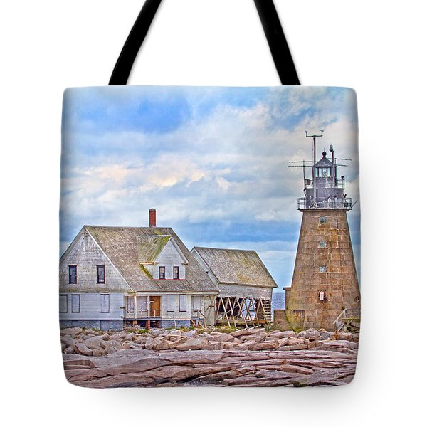 Alone on the Rocks Tote Bag by Betsy C  Knapp