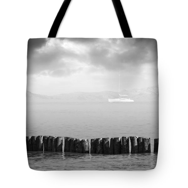 Along The Breakwater Tote Bag by Wim Lanclus