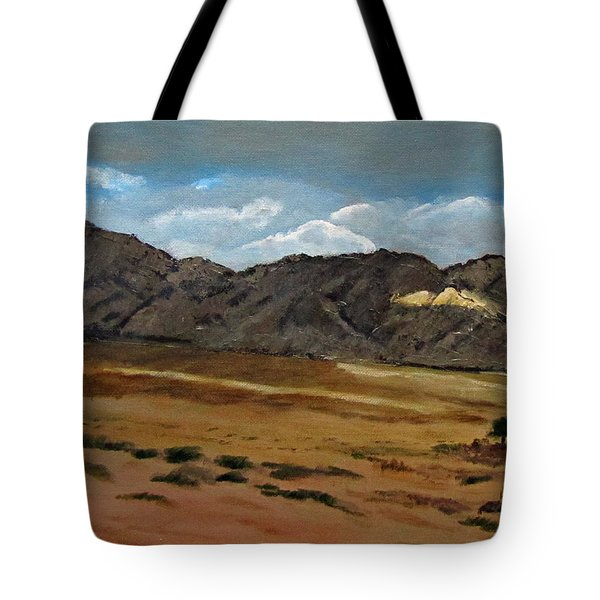 Along The Way To Eilat Tote Bag by Linda Feinberg