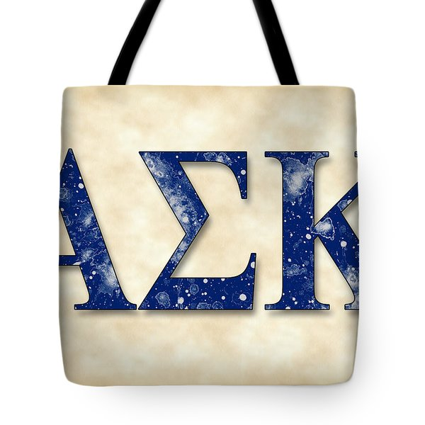Alpha Sigma Kappa - Parchment Tote Bag by Stephen Younts