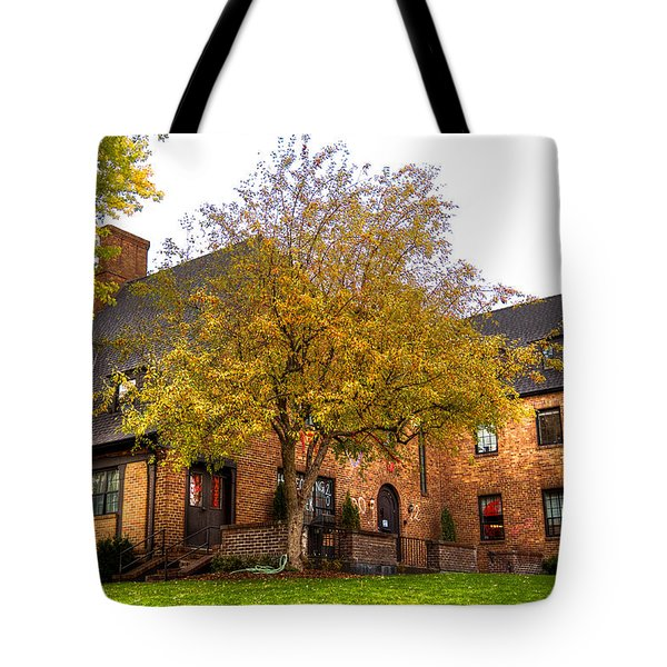 Alpha Tau Omega Fraternity At Washington State University Tote Bag by David Patterson