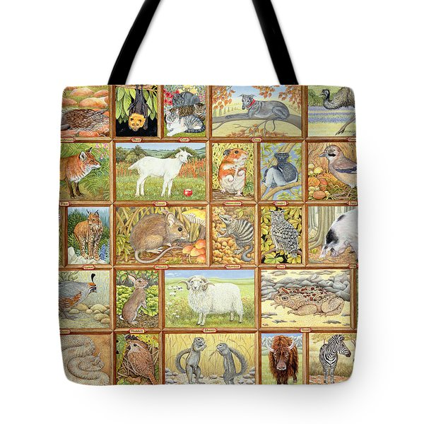 Alphabetical Animals Tote Bag by Ditz